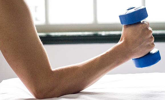 Fisioterapia musculação braço